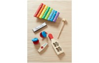 Melissa & Doug Band-in-a-Box Hum! Jangle! Shake! - 7-Piece Musical Instrument Set Deal