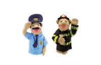 Melissa & Doug Rescue Puppet Set - Police Officer and Firefighter Deal