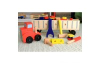 Melissa & Doug Big Rig Truck Wooden Building Set (22pc) Deal