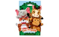 Melissa & Doug Zoo Friends Hand Puppets (Set of 4) - Elephant, Giraffe, Tiger, and Monkey Deal