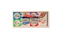 Melissa & Doug Self-Correcting Alphabet Wooden Puzzles With Storage Box 27pc Deal