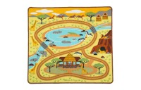 Melissa & Doug Round the Savanna Safari Rug Activity Rug (39 X 36