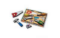 Melissa & Doug Wooden Chunky Puzzles Set - Tools and Dinosaurs 14pc Deal
