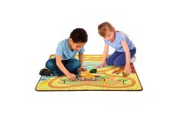 "Melissa & Doug Round the Savanna Safari Rug Activity Rug (39 X 36"") Deal"
