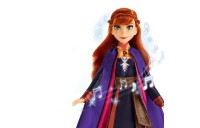 Disney Frozen 2 Singing Anna Fashion Doll with Music Wearing a Purple Dress Deal