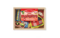 Melissa & Doug Wooden Farm Magnets with Wooden Tray - 20pc Deal