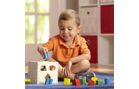 Melissa & Doug Shape Sorting Cube - Classic Wooden Toy With 12 Shapes Deal