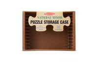 Melissa & Doug Natural Wood Puzzle Storage Case (Holds 12 Puzzles) Deal