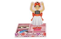 Melissa & Doug Deluxe Nina Ballerina Magnetic Dress-Up Wooden Doll With 27pc of Clothing Deal