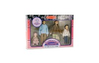 Melissa & Doug 4-Piece Victorian Vinyl Poseable Doll Family for Dollhouse - 1:12 Scale Deal