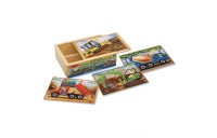 Melissa & Doug Construction Vehicles 4-in-1 Wooden Jigsaw Puzzles (48pc) Deal