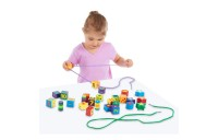 Melissa & Doug Deluxe Wooden Lacing Beads - Educational Activity With 27 Beads and 2 Laces Deal