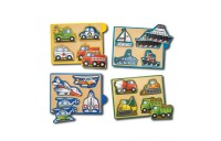Melissa & Doug Wooden Mini-Puzzle Set With Storage and Travel Case 32pc Deal