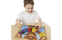 Melissa & Doug Basic Skills Board and Puzzle - Wooden Educational Toy Deal