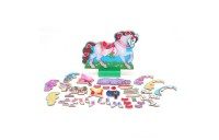 Melissa & Doug My Horse Clover Wooden Doll and Stand With Magnetic Dress-Up Accessories (60 pc Deal