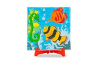 Melissa & Doug Canvas Painting Set: Animals - 3 Canvases, 8 Tubes of Paint Deal