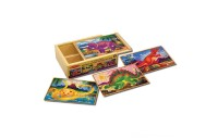 Melissa & Doug Dinosaurs 4-in-1 Wooden Jigsaw Puzzles in a Storage Box (48pc) Deal