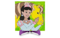 Melissa & Doug Canvas Painting Set: Princess - 3 Canvases, 8 Tubes of Paint Deal