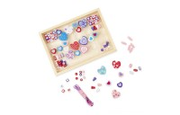 Melissa & Doug Sweet Hearts and Butterfly Friends Bead Set of 2 - 250+ Wooden Beads Deal