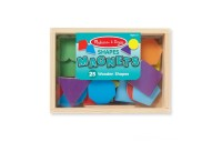 Melissa & Doug 25 Wooden Shape and Color Magnets in a Box Deal