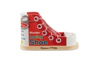 Melissa & Doug Deluxe Wood Lacing Sneaker - Learn to Tie a Shoe Educational Toy Deal