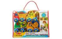 Melissa & Doug Pull-Back Construction Vehicles - Soft Baby Toy Play Set of 4 Vehicles Deal