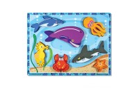 Melissa & Doug Wooden Chunky Puzzles Set - Ocean Animals and Insects 14pc Deal