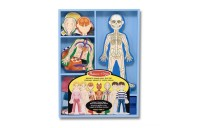 Melissa & Doug Magnetic Human Body Anatomy Play Set and Storage Tray - 24pc Deal
