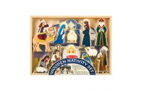 Melissa & Doug Classic Wooden Christmas Nativity Set With 4-Piece Stable and 11 Wooden Figures Deal