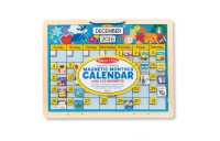 Melissa & Doug Monthly Magnetic Calendar With 133 Magnets and 2 Fabric-Hinged Dry-Erase Boards Deal