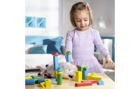 Melissa & Doug Wooden Building Blocks Set - 100 Blocks in 4 Colors and 9 Shapes Deal
