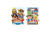 Melissa & Doug Adventure Hand Puppets (Set of 2, 4 puppets in each) - Bold Buddies and Palace Pals Deal