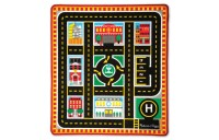 Melissa & Doug Round The City Rescue Rug With 4 Wooden Vehicles (39 x 36 inches) Deal