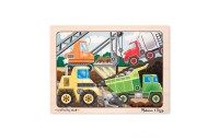 Melissa & Doug Wooden Jigsaw Puzzles Set: Vehicles, Pets, Construction, and Farm 4 puzzles 48pc Deal