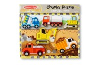 Melissa & Doug Wooden Chunky Puzzles Set - Vehicles and Construction 15pc Deal