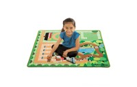 Melissa & Doug Round the Ranch Horse Activity Rug (39 x 36 inches) With 4 Play Horses and Folding Fence Deal