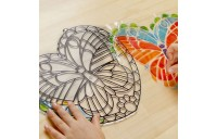 Melissa & Doug Stained Glass Made Easy Activity Kit: Butterfly - 140+ Stickers Deal