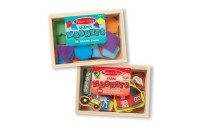 Melissa & Doug Wooden Magnets Set - Shapes and Farm (45pc) Deal