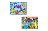 Melissa & Doug Chunky Puzzle 7pc Bundle - Safari & Sea Creatures Deal