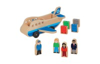 Melissa & Doug Wooden Airplane Play Set With 4 Play Figures and 4 Suitcases Deal