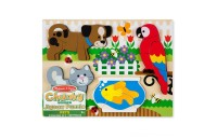 Melissa & Doug Pets Wooden Chunky Jigsaw Puzzle - Dog, Cat, Bird, and Fish (20pc) Deal