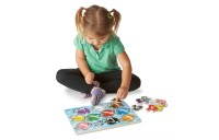 Melissa & Doug Fish Colors, ABC, and Numbers Wooden Mix 'n Match Peg Puzzle Bundle Deal