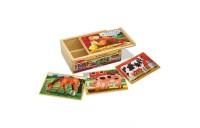 Melissa & Doug Farm 4-in-1 Wooden Jigsaw Puzzles in a Storage Box (48pc total) Deal
