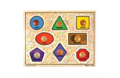 Melissa & Doug Large Shapes Jumbo Knob Wooden Puzzle (8pc) Deal