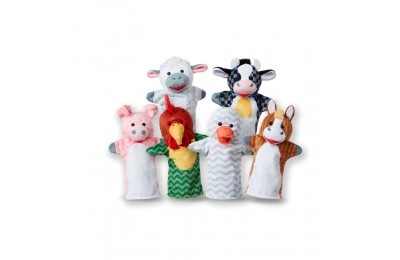 Black Friday 2020 Melissa & Doug Barn Buddies Hand Puppets 6pc Deal