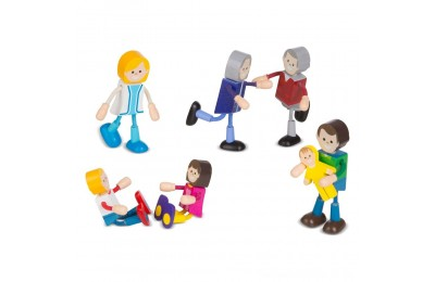 Melissa & Doug Wooden Flexible Figures - Family Deal