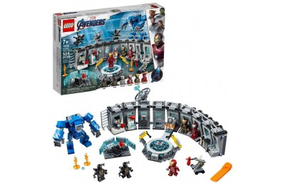 LEGO Marvel Avengers Iron Man Hall of Armor Superhero Mech Model with Tony Stark Action Figure 76125 Deal