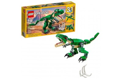 Black Friday 2020 LEGO Creator Mighty Dinosaurs 31058 Build It Yourself Dinosaur Set, Pterodactyl, Triceratops, T Rex Toy Deal