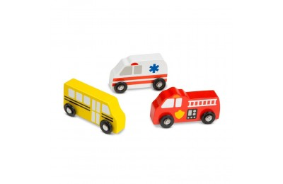 Melissa & Doug Wooden Town Vehicles Set Deal