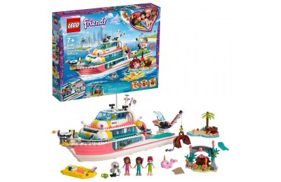 Black Friday 2020 LEGO Friends Rescue Mission Boat 41381 Building Kit Sea Creatures for Creative Play 908pc Deal
